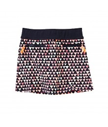 Gymboree Navy Skirt Wt Neon Pink Triangle Print