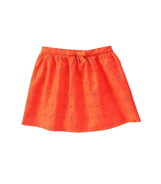 Gymboree Orange Eyelet Skirt Little Girl