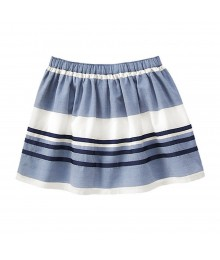 Gymboree Blue/White Navy Ribbon Stripped Skirt