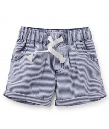 Carters Navy/White Stripped Pull-On Shorts