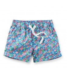 Carters Multi Floral Print Pull-On Shorts