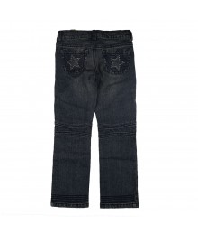 Crazy 8 Gem Star Pocket Blue Denim Little Girl