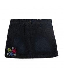 Crazy 8 Snowflake Embroidered Denim Skirt