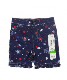 Jumping Beans Navy Stars Patterned Pedal Pushers Baby Girl