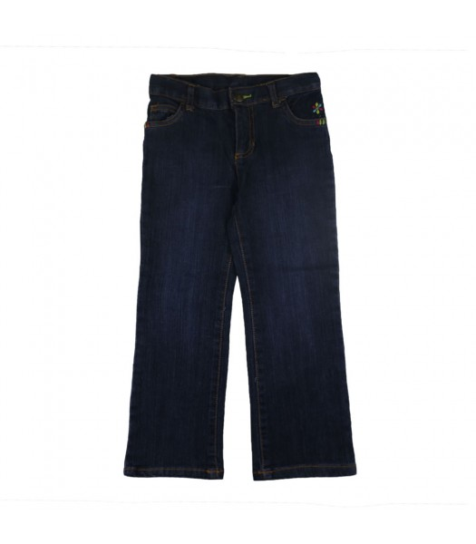 Carters Girls Flower Emb Jeans