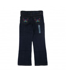 Carters Girls Butterfly Emb Jeans