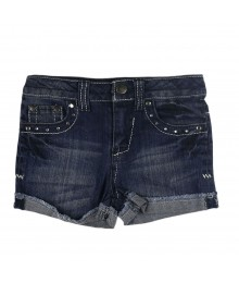 Cherokee Denim Bum Shorts Wt Silver Stitches