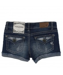 Vigoss Denim Bum Shorts Wt Lace N Studs