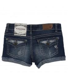 Vigoss Denim Bum Shorts Wt Lace N Studs