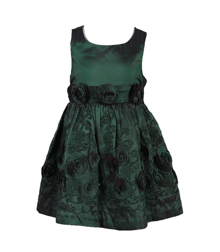 f280d000982 Bonnie Jean Green Taffeta Dress With Rosette N Emb. ₦10,500.00 NGN