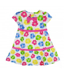Gymboree Flower Dot Mixed Print Dress