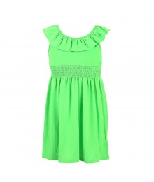 Zunie Green Neon Knit Dress Little Girl