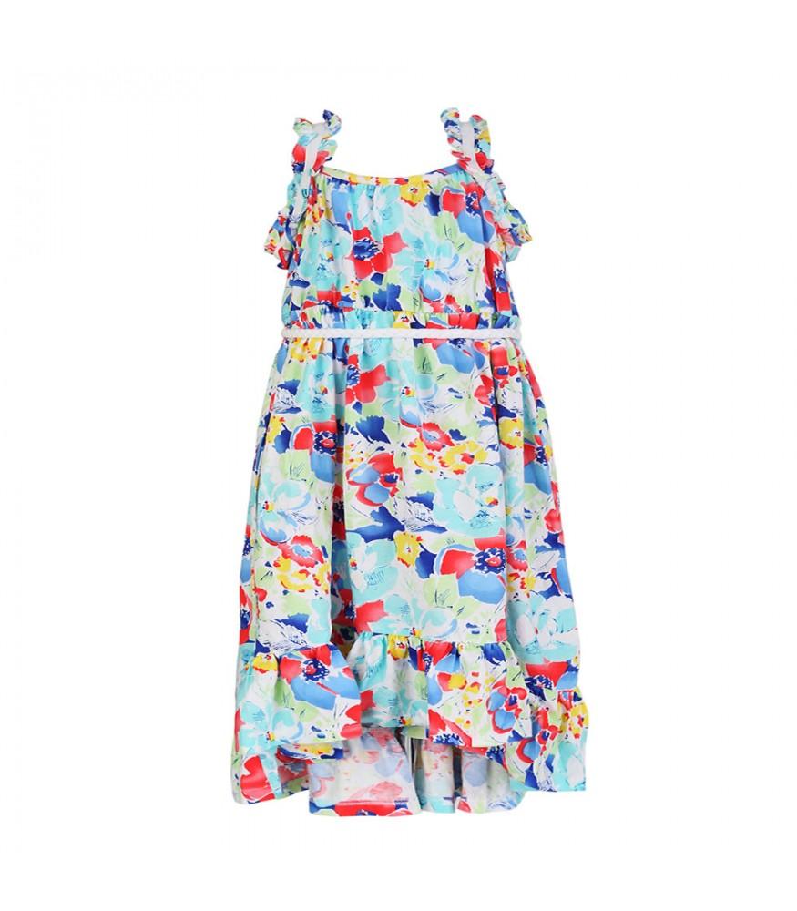 db3d3fa3ed9 Chaps White Multi Floral Hi-Lo Maxi Dress