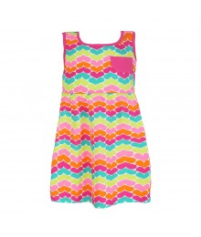 Jumping Beans Pink Multi Heart Bow- Back Knit Dress