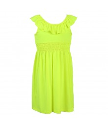 Zunieyellow Neon Knit Dress Little Girl