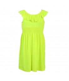 Zunieyellow Neon Knit Dress