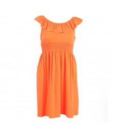 Zunie Neon Orange  Knit Dress Big Girl