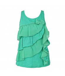 Jessica Simpson Teal Ruffle Girls Cami
