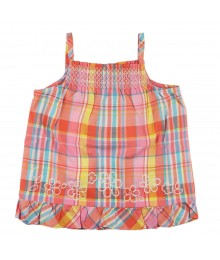 Oshkosh Orange/Pink/Yllw/Blue Plaid Tank
