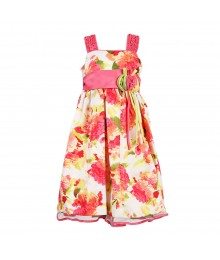 Jayne Copeland Rasberry Floral Dress Little Girl