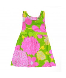 Rare Editions Pink/Lime Floral Sundress Little Girl