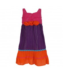 Youngland Colorblock Guauze Sundress