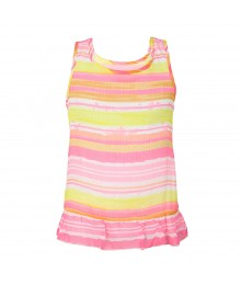 Sonoma Pink Multi Stripped Cgiffon Tank Top Wt Ruffles Little Girl