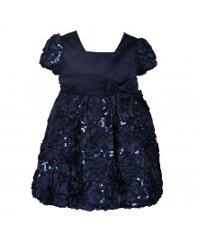 Raer Editions Navy Blue Sequinced Dress