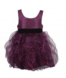 Bonnie Jean Purple Ruffled Organza Dress