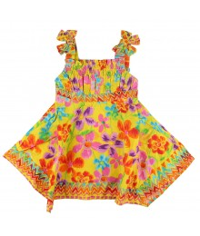 Youngland Yellow Floral Woven Sundress Little Girl