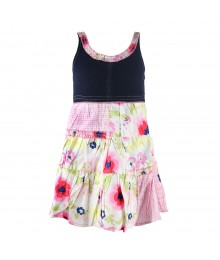 Blueberi Boulevard Denim Floral Print Tiered Sundress