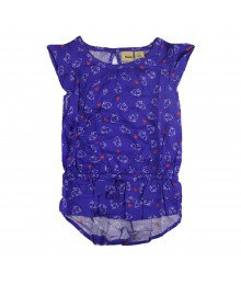 Mudd Purple Rabbit Hi-Low Peplum Top Little Girl