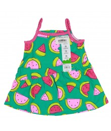 Jumping Beans Green Babydoll Top Wt Watermelon Pattern