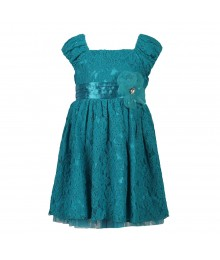 Sweet Heart Teal/Turq Lace Dress