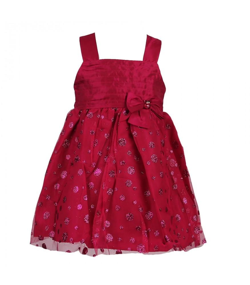 d2dfaf083 Sweet Heart Rose Fushcia Glitter Dot Mesh Wt Taffeta