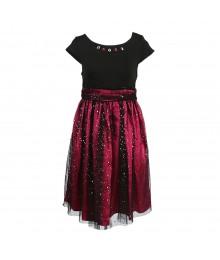 Dollie And Me Black/Fushcia Dress Wt Doll Dress