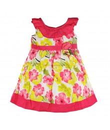 Blue Beri Pink/Yellow Multi Floral Sun Dress