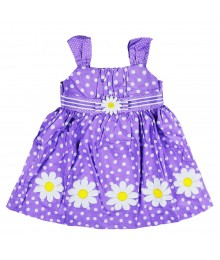 Blue Beri Lilac Dotted Sun Dress