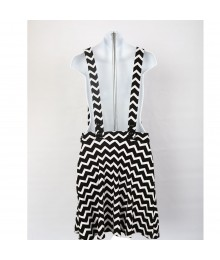 Speechless Black/White Cheverom Skirtail Dress