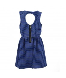 Bebop Blue/Black Stripe Kint Dress Juniors