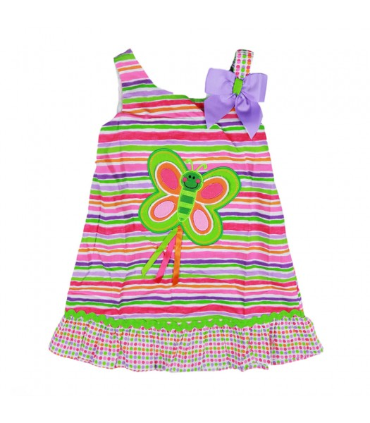 Youngland Multi Stripe Butterfly Dress