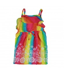 Youngland Rainbow Floral Dress