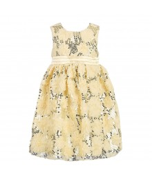 American Princess Cream Rosette & Sequin Dress Little Girl