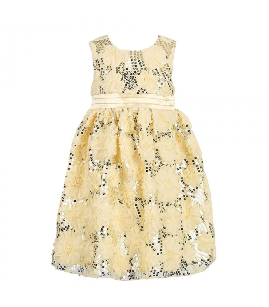 a5c749f323 American Princess Cream Rosette & Sequin Dress. ₦12,500.00 NGN