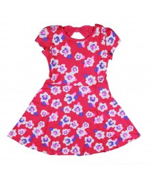 Jumping Beans Pink Flowers Skater Dress
