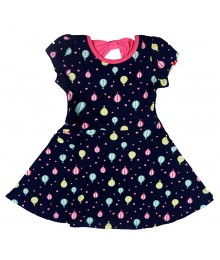 Jumping Beans Navy Balloon Print Skater Dress Little Girl