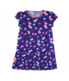 Jumping Beans Royal Blue Poka Dot Skater Dress Little Girl