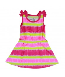 Jumping Beans Pink Tiedye Stripe Dress Little Girl