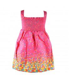 Blueberi Boulevard Pink Poka Sparkel Dot Sundress