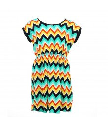Soprano Multi Zig Zag Woven Dress